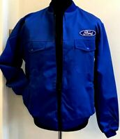 """Superb Classic Fully-Lined Ford Badge Bomber Rally Motorsport Jacket 38"""" Chest"""