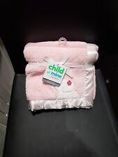Carter's Child of Mine Elephant Baby Blanket. Pink Plush Soft.