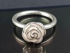 Pandora Pink Rose Garden Enamel Silver Ring 48 Small 190905 Free Tracked Postage