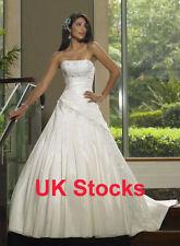 Taffeta A-line Unbranded Strapless Wedding Dresses