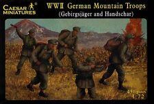 Caesar Miniatures 1/72 WWII German Mountain Troops (Gebirgsjager & Hanschar) # 0