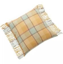 """CHAPS Home ELIZABETH Pillow Size: 20 x 20"""" NEW Plaid Fringe Throw FREE SHIPPING"""