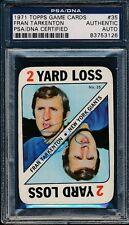 1971 Topps Game Cards #35 Fran Tarkenton PSA/DNA Certified Authentic Auto *3126