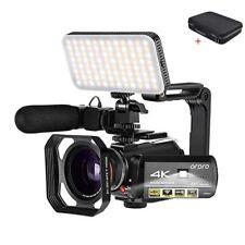 Video Camera 4K for Blogger Filming Ordro AC3 Night Vision WiFi Digital