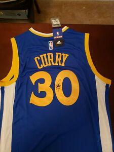 Stephen Curry Signed Golden States Warriors Adidas Swingman Jersey