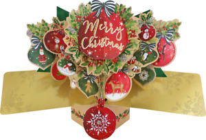 Christmas Pop Up Card Ideal for Mum Dad For Her Him