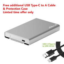 "Aluminum 2.5"" Enclosure USB 3.1 Type C Hard Drive Disk Case USB-C Thunderbolt 3"