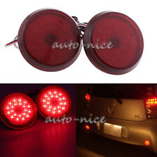 2x Red LED Rear Bumper Reflector Light Set for Scion xB iQ Toyota Sienna Corolla