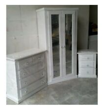 WHITE   AYLESBURY  3 PIECE BEDROOM  FURNITURE FULLY ASSEMBLED