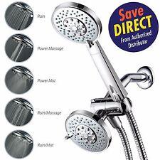 Razor™ Slimeline-Design 24-Setting 3-Way Showerhead w/ Handheld Shower Combo