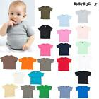 BabyBugz Baby T-Shirt Boys Girls (BZ02) - Toddler Plain Cotton Tee 0 - 24 Months