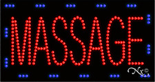 """New """"Massage"""" 32x17 Solid & Animated Led Business Sign w/Custom Options 21092"""