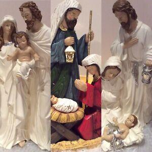 Krippenfiguren XXLnWeihnachten Krippe Figuren Set Weihnachtskrippe  creme silber