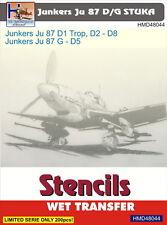 H-Model Decals 1/48 Junkers Ju 87D/G Stencils # 48044