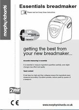 Morphy Richards Bread Machine Manual 48322, 48323, 48324, 48325, 48326, 48327