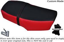 Negro y Rojo Brillante Personalizado se ajusta Hartford Legión HD 125 L de doble cubierta de asiento de cuero