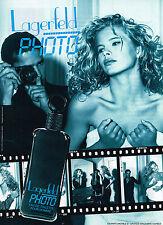 PUBLICITE ADVERTISING 074  1992  LAGERFELD  eau toilette homme homme PHOTO