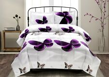 Hig 3D Butterfly Reactive Printed Box Stiched Comforter Set Or Sheet Set