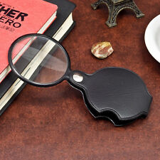 5X Times Magnifier Magnifying Glass With PU Leather Case for Outdoor Activities