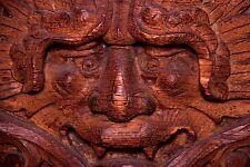 19C British Carved Oak Gargoyle/Green Man