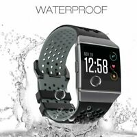 Silicone Wriststrap Bracelet Band Strap for Fitbit Ionic Watchband Black Gray