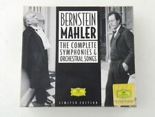 BERNSTEIN/MAHLER - THE COMPLETE SYMPHONIES & ORCHESTRAL SONGS - BOX 16 CD - NM