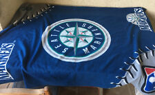 Seattle Mariners Throw Lap Blanket MLB Insiders Club Baseball Fleece Genuine