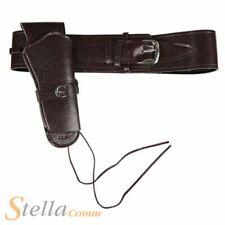 Deluxe Cowboy Holster Brown Leather Look Belt Fancy Dress Western Accessory