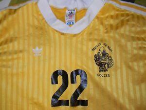 vtg MARCOS DE NIZA HIGH SCHOOL ADIDAS long sleeve soccer jersey men's L