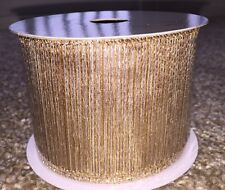 Ribbon Holiday Decorative Collection Gold Silver Stripe Wired 10 Yards Bella Lux