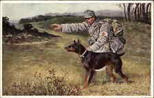 WWI German Red Corss Military Working Dogs Doberman Pinscher Postcard
