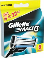 Gillette Mach3 8 Cartridges Shaving Blades for Razor Packet