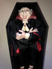 Fitz & Floyd Dracula Vampire Coffin Halloween Rare