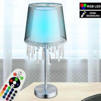 LED Kristall Decken Lampe RGB Dimmbar Blatt-Gold Textil Leuchte FERNBEDIENUNG