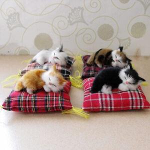 1X Faux Fur Pet Sleeping Cat Cushion Animal Doll Toy Cloth Pad Creative Gift Hot