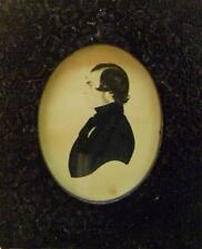 SILHOUETTE  SIDE PROFILE YOUNG GENTLEMAN ENGLISH SCHOOL  1842