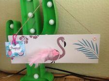 Tropical Tiki Retro Rockabilly Flamingo Glitter Large Wooden Hanging Sign