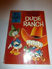 """Dell Giant"" Uncle Donald and his Nephews Dude Ranch VG 1961 B208"