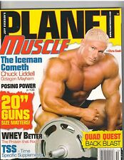 Planet Muscle bodybuilding mag/Chris Cook/Chuck Liddell 10-08