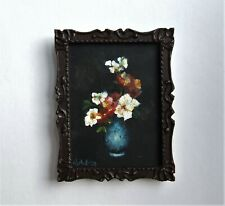 """Dolls house painting, 1/12th scale (1"""") miniature dollhouse picture. FLORAL"""