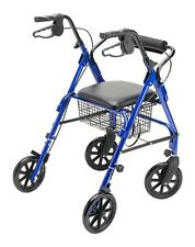 Lightweight Folding Rollator Walker with Folding 8-inch Wheels