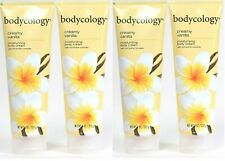 (4) Bodycology Creamy Vanilla With Rich Butter Complex Moisture Body Cream 8 Oz