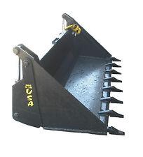 "66"" 4-1 Bucket W/Teeth Bobcat Skidsteer Attachment Universal Quick Attach"