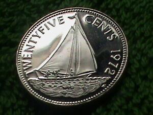 BAHAMAS 25 Cents 1972 PROOF