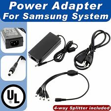 DC 12V 5A Power Adapter 4-Split Power Cable for CCTV Security Camera for Samsung