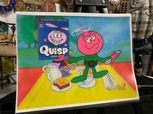 RARE RARE Vintage Quisp Cereal Animation Cel
