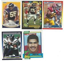 LOT OF 5 DIFFERENT JUNIOR SEAU ROOKIES SAN DIEGO CHARGERS ALL NM-MT