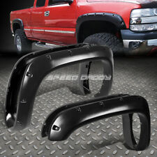 "FOR 94-02 DODGE RAM PICKUP 3"" TEXTURED BLACK POCKET-RIVETED WHEEL FENDER FLARES"