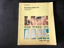 Vintage 1970 BEACHWOOD SHAKER HTS Ohio Bell Telephone Directory Yellow pages