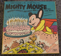 Mighty Mouse Mother Goose's Birthday Party 8mm Film 1960s Vintage Terrytoons